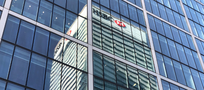 HSBC Tower reflected on office building windows